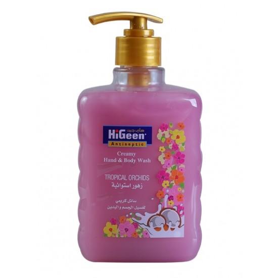 Higeen Creamy H&B Wash 500ML TropicalOrchids