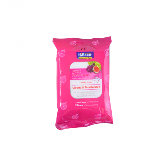 HiGeen Antibac. Wipes 15s Pink&Fig Extract