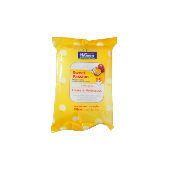 HiGeen Antibac. Wipes 15s Sweet Passion M.Honey