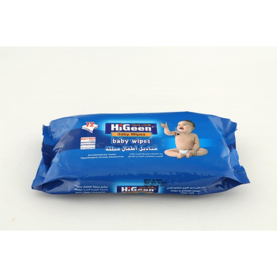 HiGeen Baby Wipes 72 Wipes