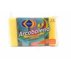 Corazzi Sc.Sponges Arcobaleno 5 Pcs